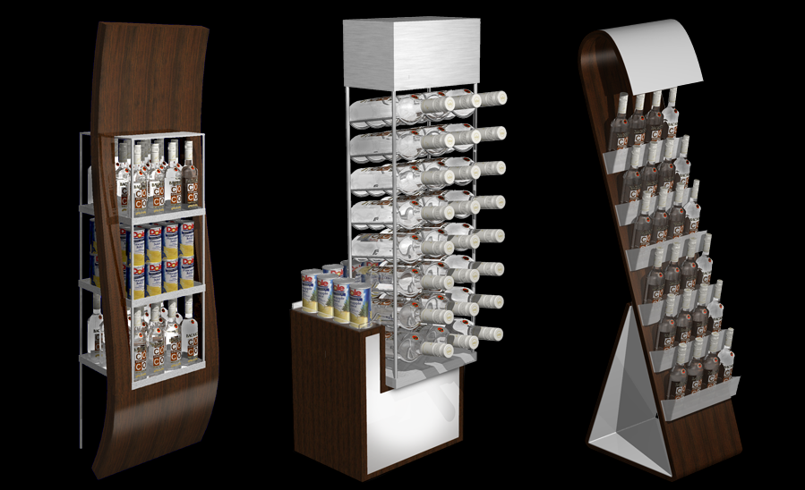 Bacardi Coco Display Concepts