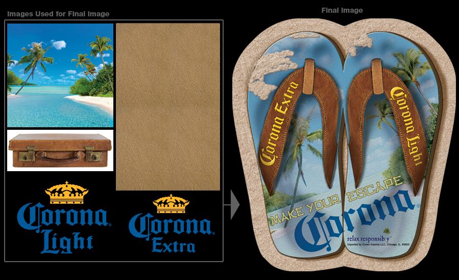 Corona Flip Flop Dangler