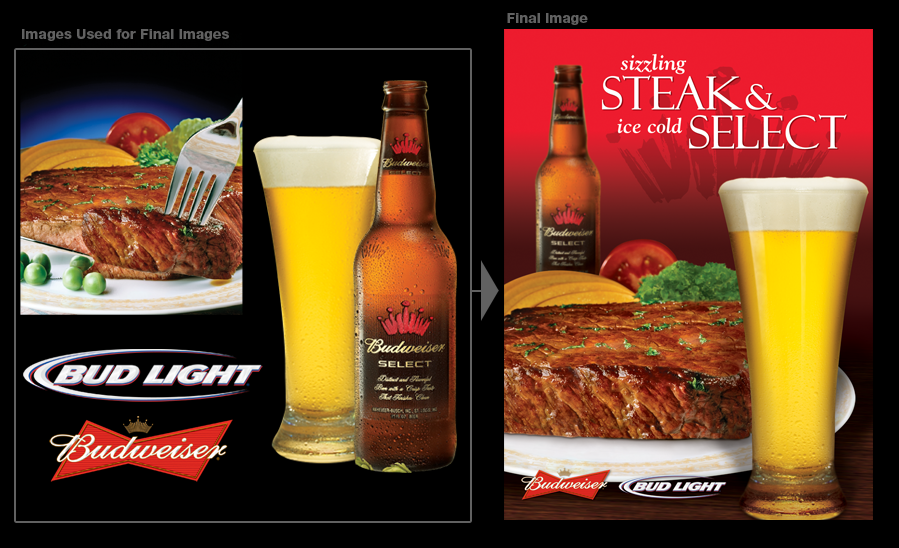 Anheuser Busch Steak and Select Poster