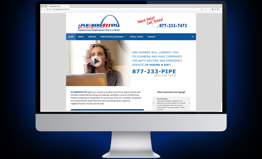 Plumbers911STL Website Design and Development